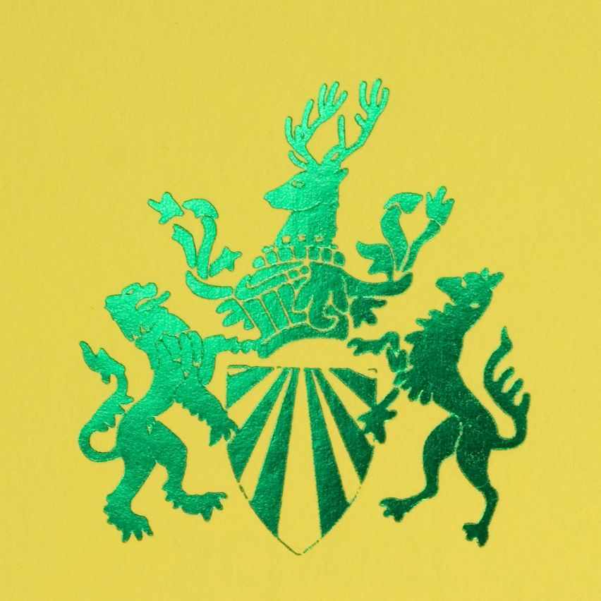 Yellow with Green Print